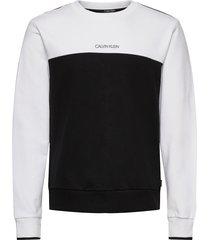color block sweatshirt sweat-shirt tröja vit calvin klein