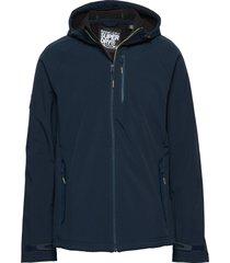 hooded stretch softshell jacket tunn jacka blå superdry