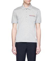 stripe pocket polo shirt