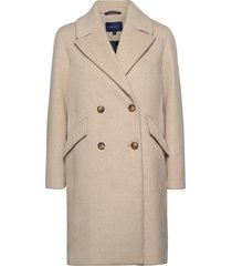 d2. over d wool blend coat trenchcoat lange jas bruin gant
