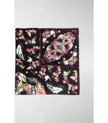 alexander mcqueen butterfly-print silk scarf