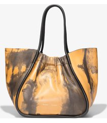 proenza schouler xl tie dye ruched tote 0069 camel/black/brown one size