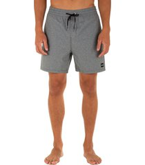 men's hurley one and only swim trunks, size xx-large - grey