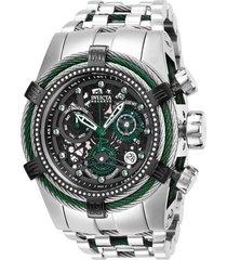 reloj invicta acero, verde modelo 272ce para hombres, colección reserve