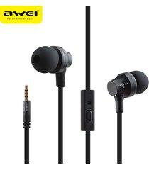 audífonos bluetooth manos libres inalámbricos, auriculares estéreo awei 910i auriculares con micrófono cancelación de ruido (negro)