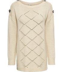 maglione con bottoni (beige) - bodyflirt boutique
