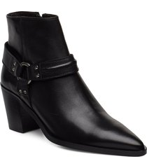 booties 3722 shoes boots ankle boots ankle boots with heel svart billi bi