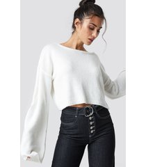 chloé b x na-kd knitted boatneck sweater - white