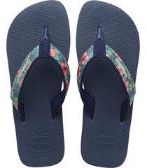 sandalias havaianas surf material azul 4144524