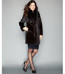 the fur vault fox-trimmed mink coat