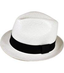 chapéu chapelaria vintage estilo panamá branco