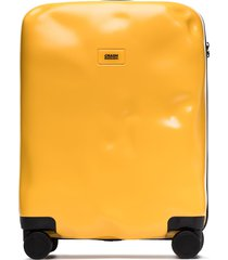 crash baggage icon cabin suitcase - yellow