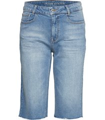 dhisla high long shorts custom shorts denim shorts blå denim hunter