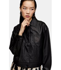 *black clean leather jacket by topshop boutique - black