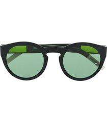 tommy jeans round frame tinted sunglasses - black