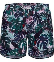 swim shorts color leaves badshorts grön dedicated
