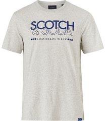 t-shirt scotch & soda crew neck logo tee