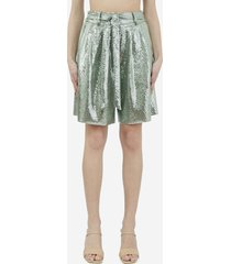 forte forte sequin jersey shorts