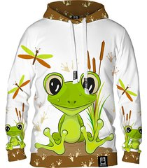 damska bluza z kapturem dr.crow cute frog