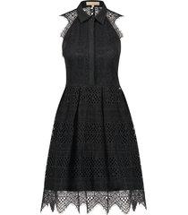 josh v zwart kanten mouwloze jurk model roma kleur black