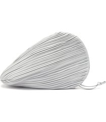 'pluto' pleated swirl leather clutch