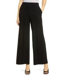 women's halogen wide leg pants, size xx-large - black