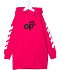 off rounded hoodie dress