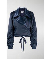 mm6 maison margiela padded cropped jacket