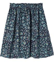 kort, utställd kjol med blommönster