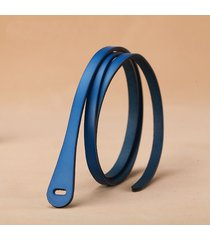 cinturón para mujer/estilo accesorio/ vestido de cuero-azul