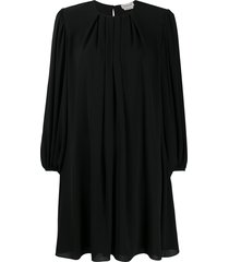 alexander mcqueen pleated shift dress - black