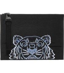 kenzo kampus logo-tiger canvas document holder