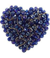 anillo pasionaria baño oro azul rey bijulovers