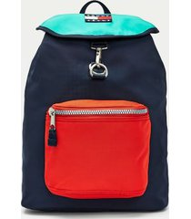 tommy hilfiger men's retro flag backpack navy/midwest green/red -