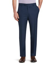 jos. a. bank men's traveler performance tailored fit flat front casual pants - big & tall, navy, 46x30