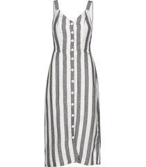 eden linen dress knälång klänning vit superdry