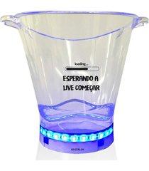 balde de gelo com led personalizado para live - incolor - dafiti