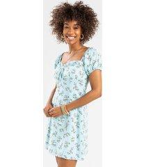 casely floral mini dress - mint