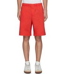 elastic waist cotton pull on shorts