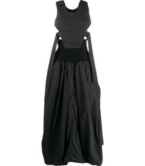 ambush quilted shell dress - black
