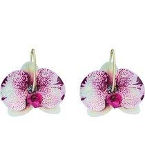aretes flores orquidea print crema- atalí