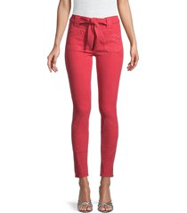 mother women's the tie patch looker skinny jeans - fruit punch - size 31 (10)