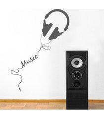 vinilo audífonos music 40 x 130 cm mu3b