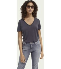 scotch & soda jersey t-shirt met bies