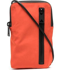 bottega veneta slim intrecciato messenger bag - orange