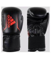 luva de boxe e muay thai speed 50 preta e vermelha