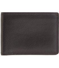 bosca leather bifold wallet in black at nordstrom