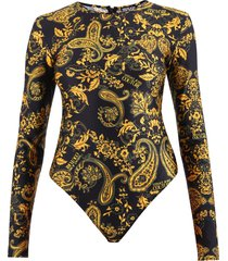 versace jeans couture printed bodysuit