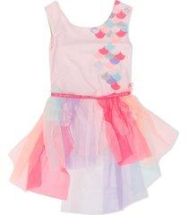 billieblush tulle skirt swim suit - pink