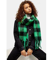 heavy punk check scarf - green